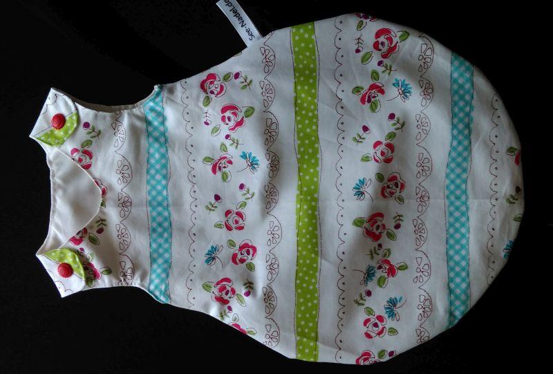 Puppenschlafsack weiß mit zartem Muster 14 €