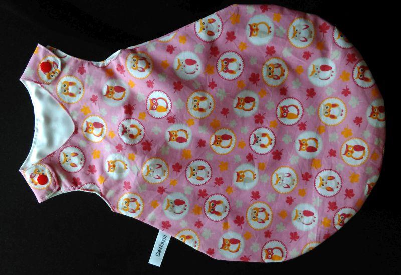 Puppenschlafsack rosa mit Eulen 14 €