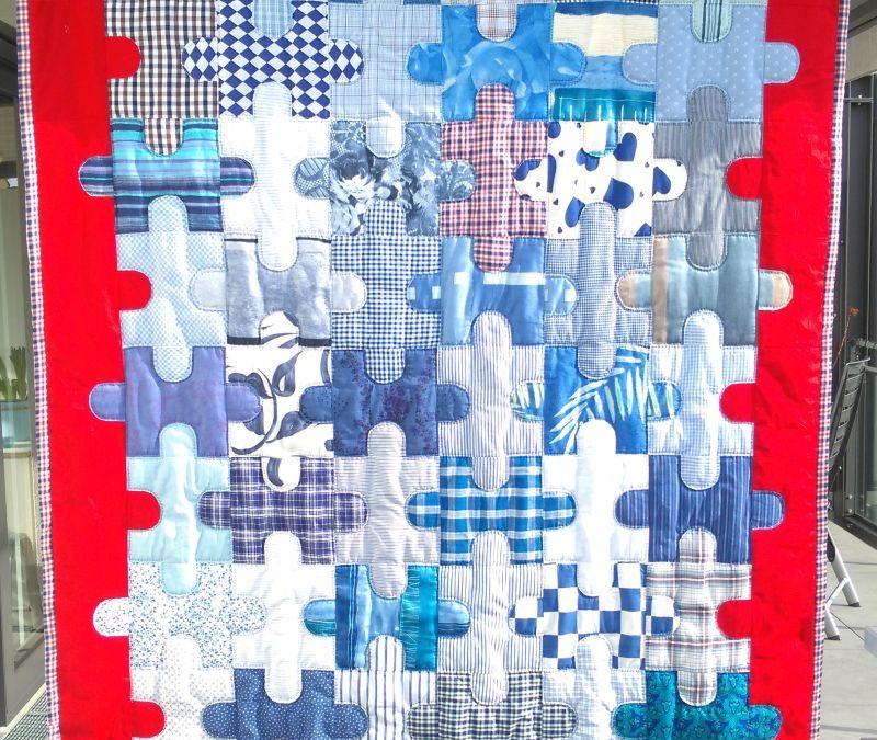 """Patchworkdecke  """"Puzzle-Maritim"""" 350 €  Artikel-Nr. 12-011"""