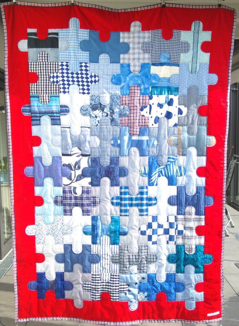 Patchworkdecke Puzzle-Maritim 350 €