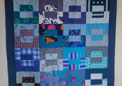 "Patchworkdecke ""alles im Quadrat""  ca. 140 x 220 cm"