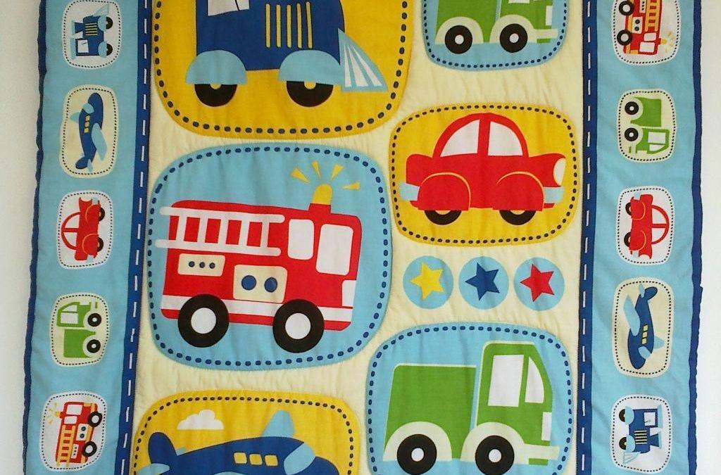 """Babydecke """"Auto"""" 45 € Artikel-Nr. 3-010"""