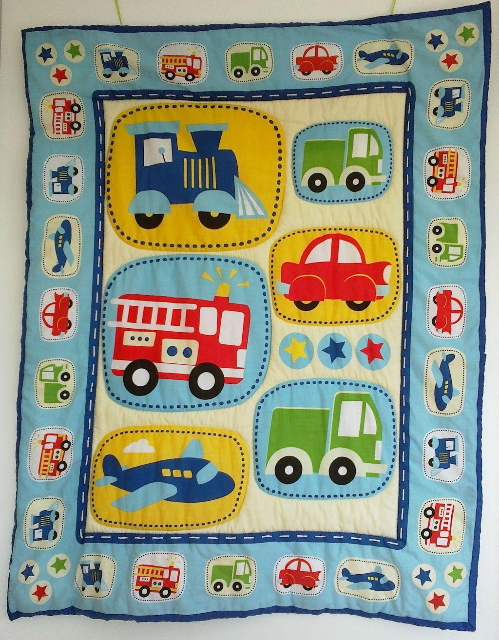"""Babydecke """"Auto"""" 65 € Artikel-Nr. 3-010"""