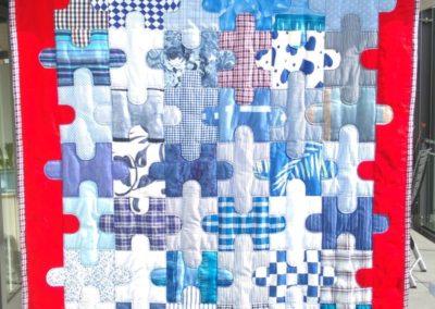 """Patchworkdecke  """"Puzzle-Maritim"""" 335 €  Artikel-Nr. 12-011"""