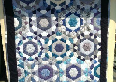 """Patchworkdecke  """"blaues Wunder"""" 999 €  Artikel-Nr. 12-018"""